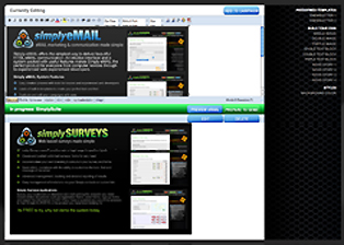 Simply email campaign creator dashboard image